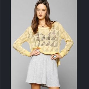 UO BDG Sweater Yellow Sz Med